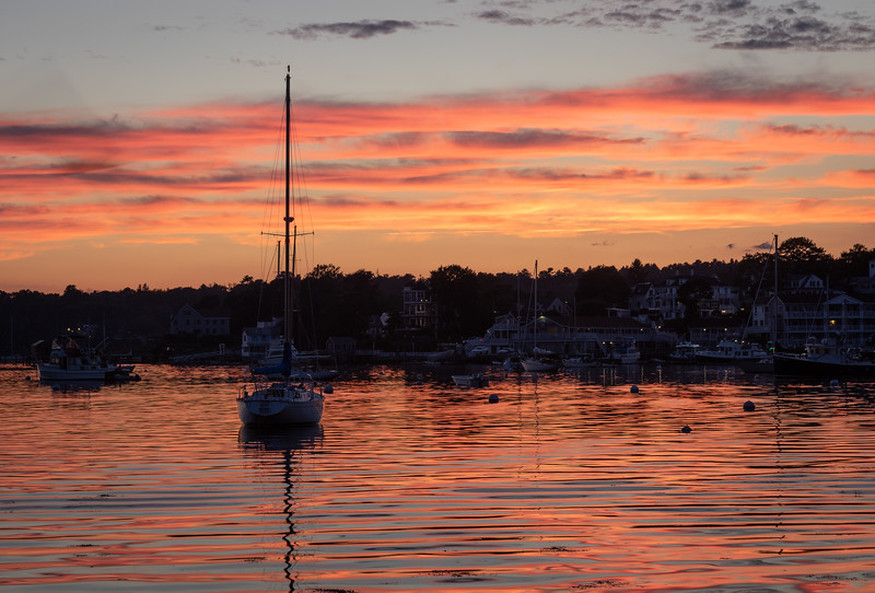 Boothbay Harbon, Maine, 8:18 pm, July 28.2020
