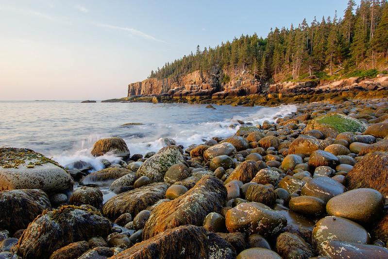 Sunrise at Boulder Beach, Acadia National Park, Maine, August 17, 2015, 6:11 am