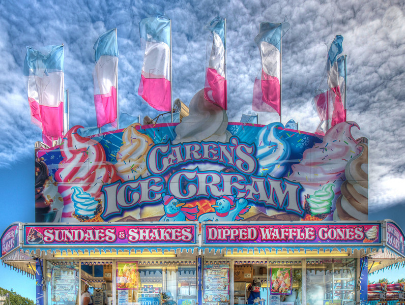 Windsor Fair, August 27, 2012<br /> <br /> An HDR of Caren's Ice Cream at the Windsor Fair.