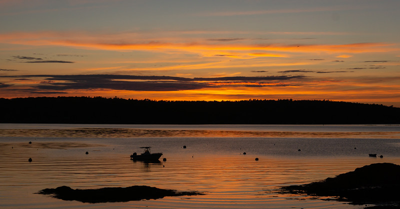 Little River Boat Club, East Boothbay, Maine, 8:13 pm, August 7, 2020