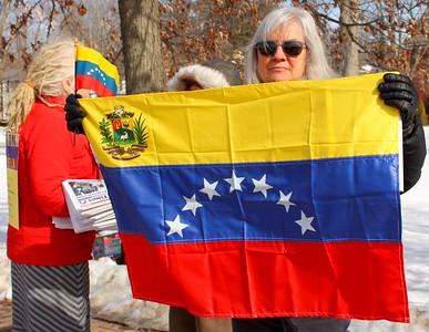 19.02.23 US Hands Off Venezuela Rally in Brunswick