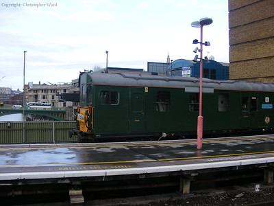 The unit crosses the Thames into the city terminus of the Southern Railway