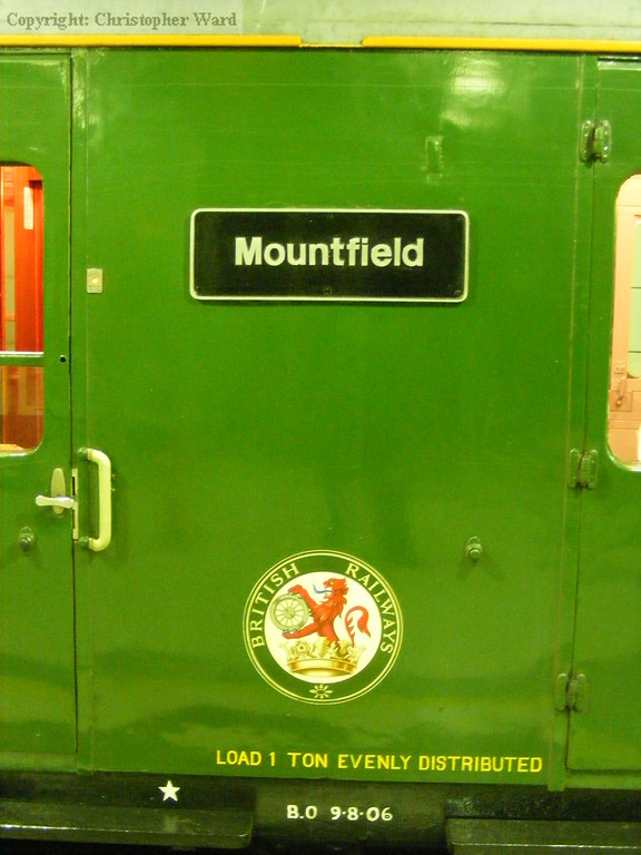 The Mountfield nameplate on 1001
