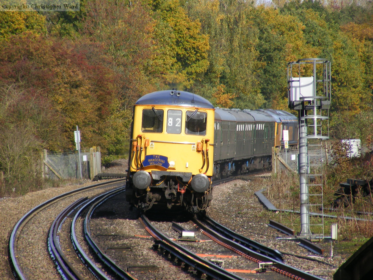 73141 rounds the bend at Warnham at speed