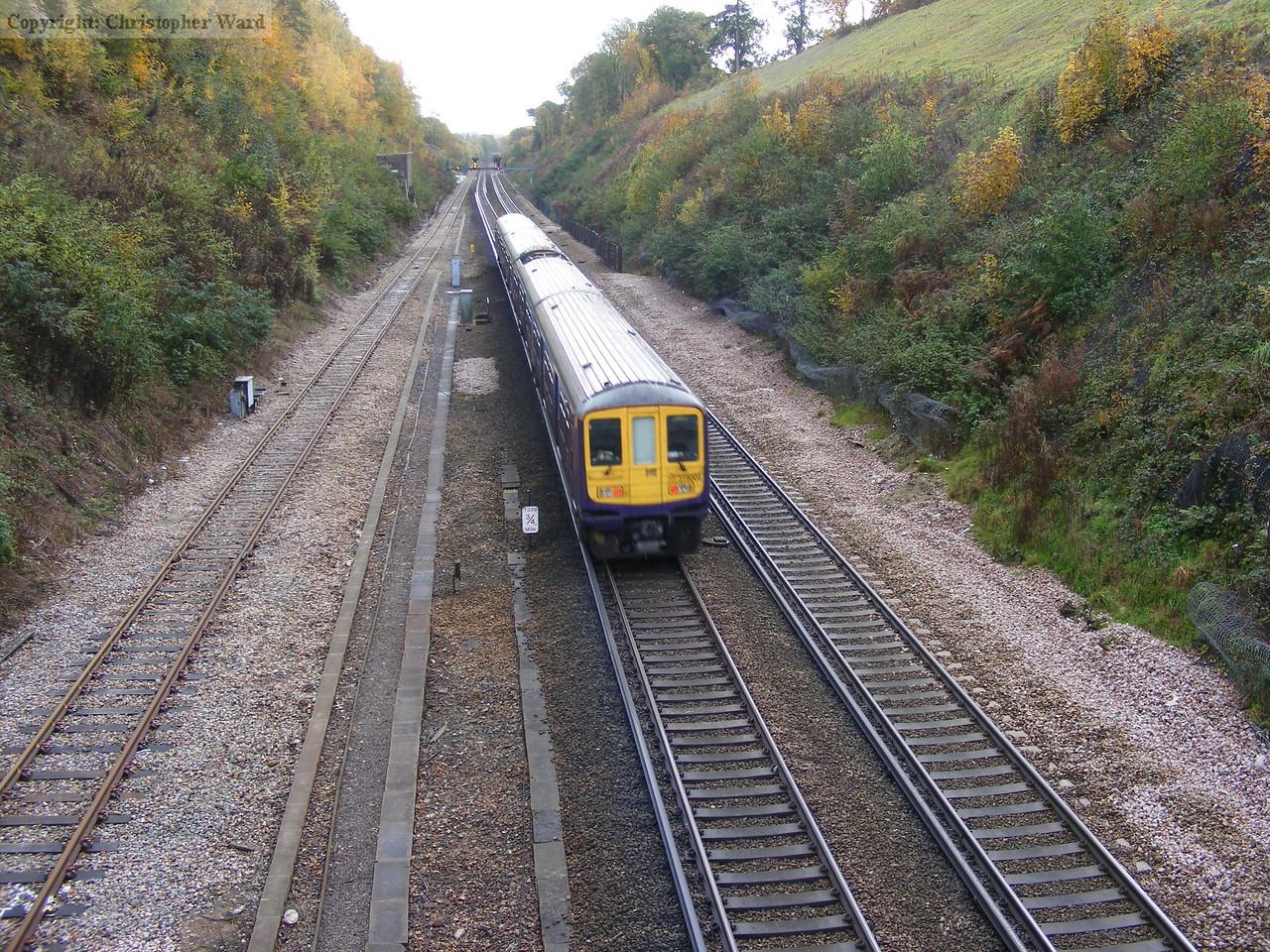 An FCC Brighton service speeds through
