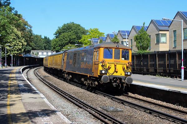 73 PLPR test train at Crofton Park.