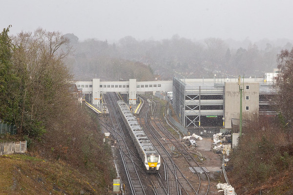 700104 is seen departing Haywards Heath working 9T27 1028 Bedford - Brighton on 07-02-21