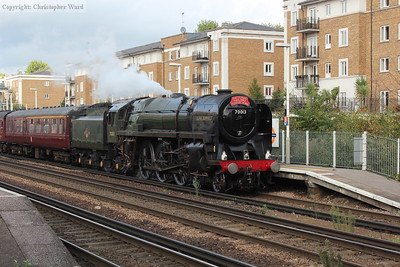 Oliver Cromwell pulls in for a pathing stop at Kensington Olympia