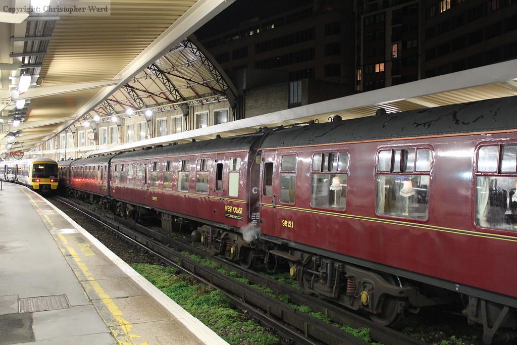 The railtour set prior to being taken back to Southall