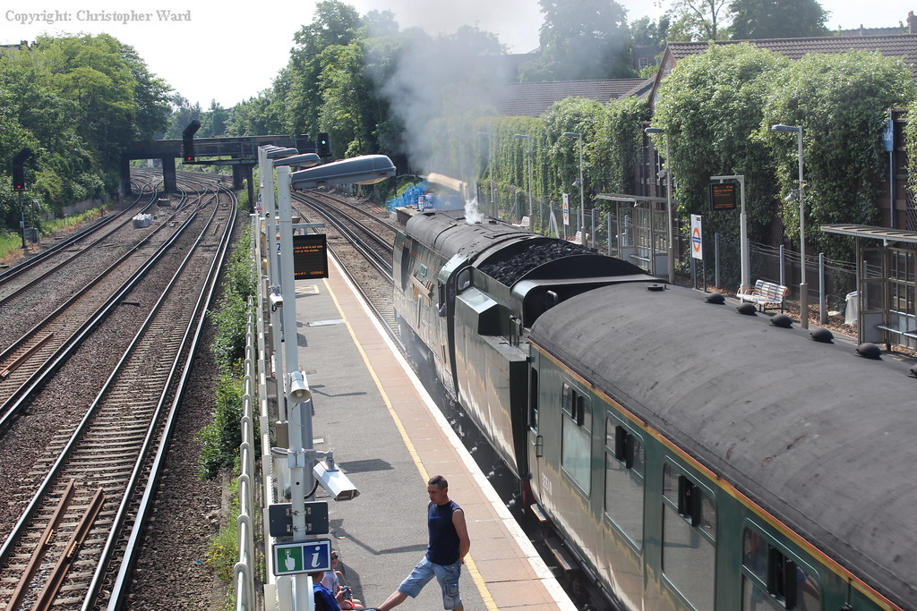 The train heads toward south-east London and Kent
