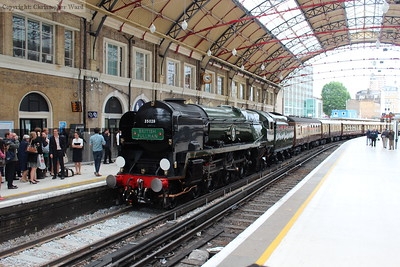 The Bulleid under the classic roof