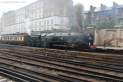The Bulleid gets the heavy train in motion