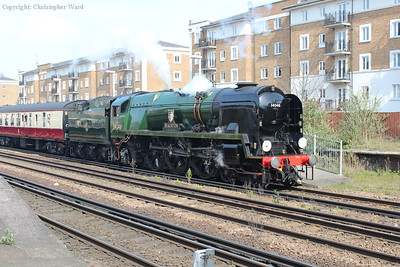 A whistle as the rebuilt Bulleid sets off