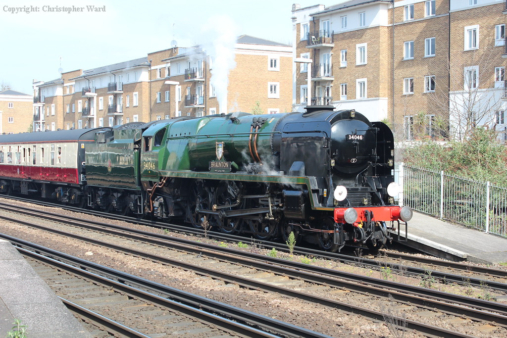 Braunton blows off as she waits to leave Olympia for a circuit of Kent