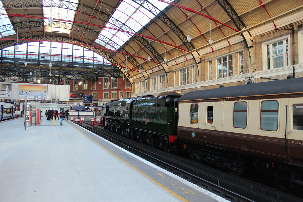 Clan Line under the non-destroyed side of London Victoria