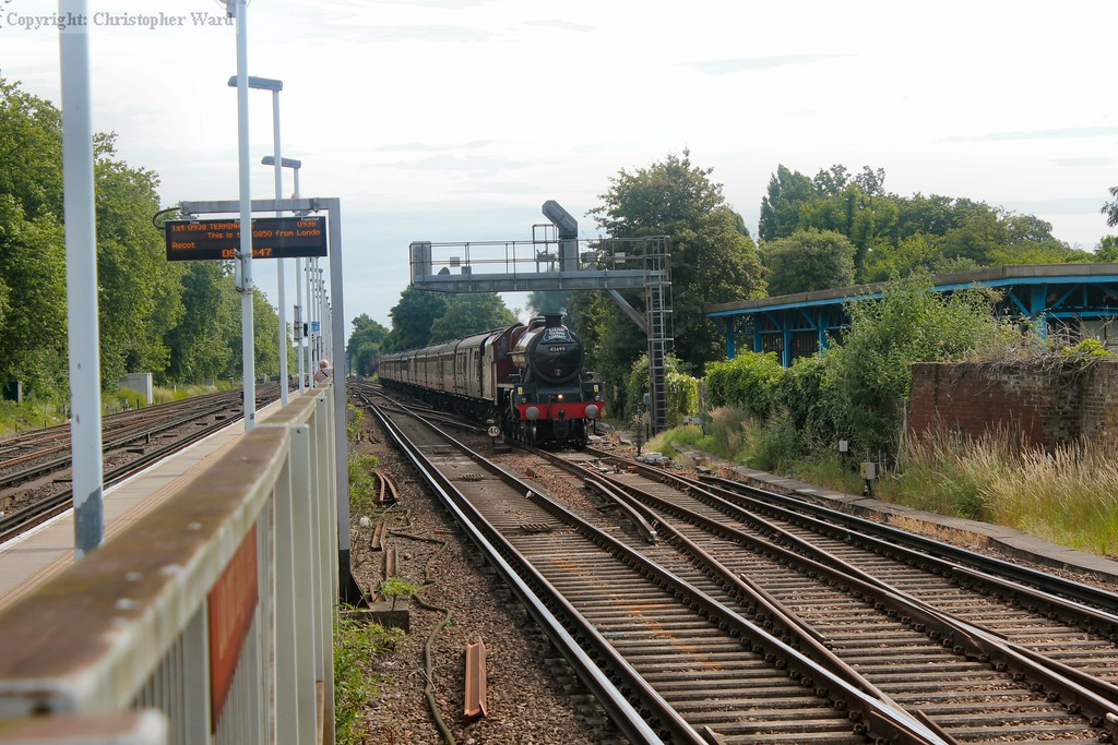 Galatea bears down on the Woking stop