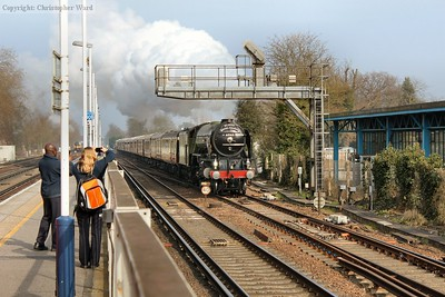 Tornado bears down on Woking prior to taking the Portsmouth line