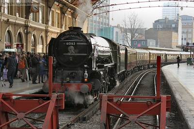 Tornado prepares to depart for the depot