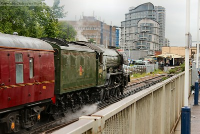 60103 approaches the station