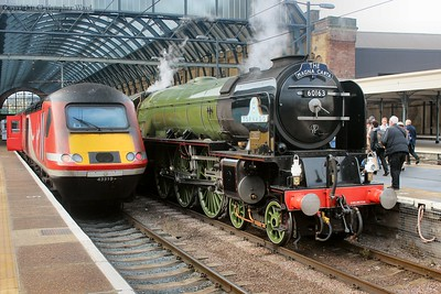 The HST prepares to head for Edinburgh while Tornado will follow it bound for Lincoln