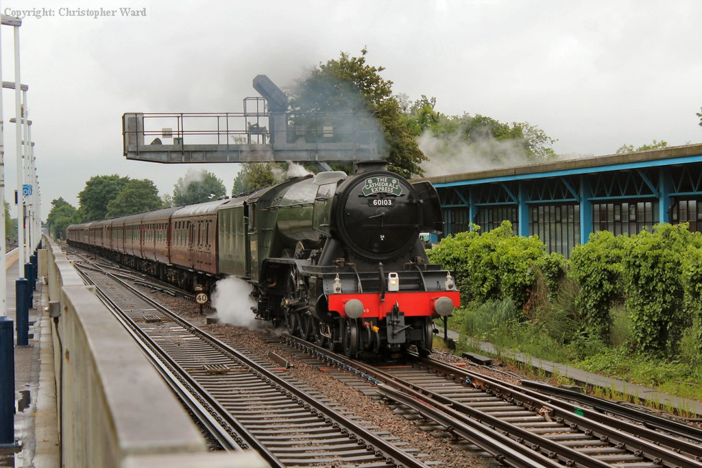 A blast from the injectors as Scotsman accelerates from a signal check
