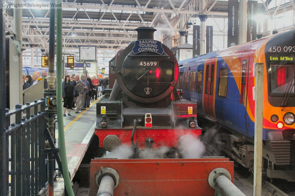 45699 at the stops at Waterloo