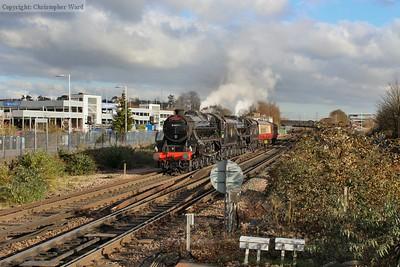 The Black Five twins arrive at Basingstoke