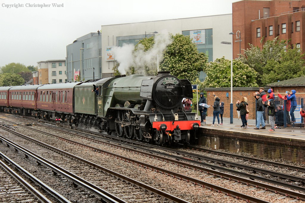 Flying Scotsman back in the south for the first time in over 10 years