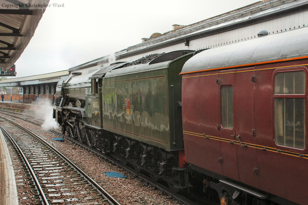 Flying Scotsman rests after her run from London