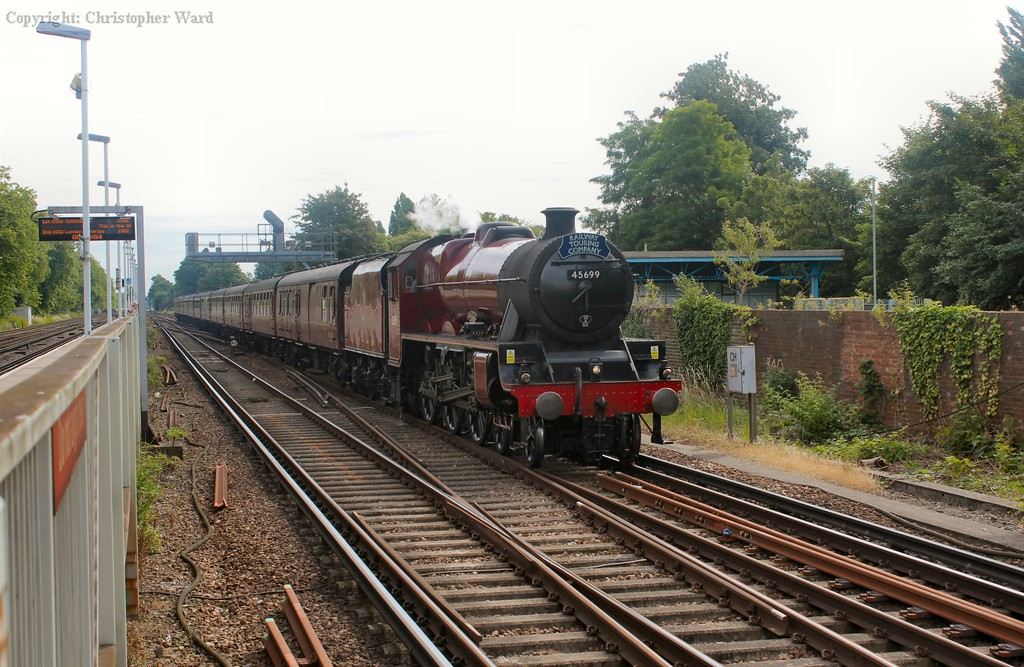 45699 sauntering down the LSWR main line