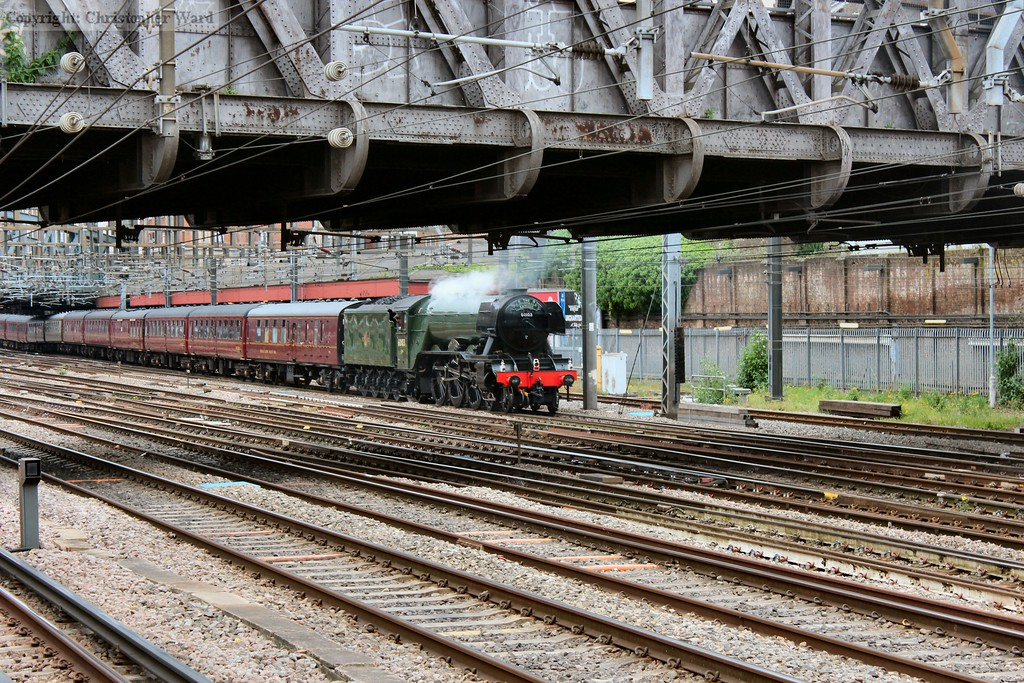 The famous A3 in her new BR green livery