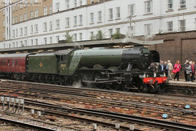 Flying Scotsman sits at London Victoria