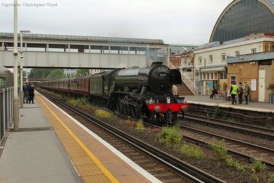 Flying Scotsman trundles past