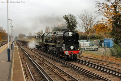35028 approaches her final call before heading off into Hampshire