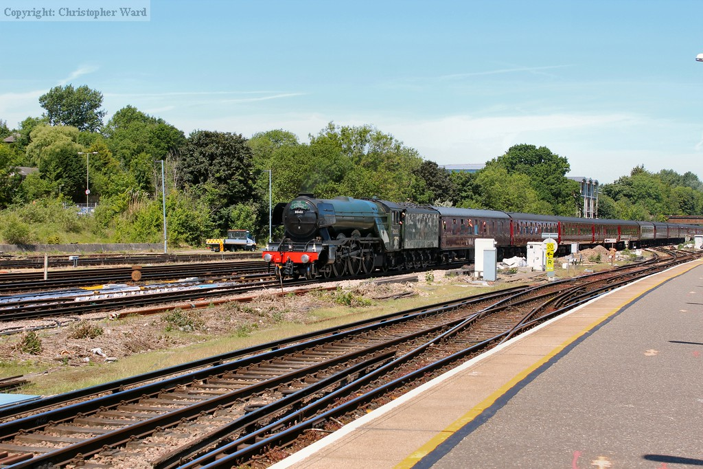 The LNER A3 approaches that most Surrey of towns, Guildford