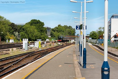 60103 approaches Guildford from the Woking line