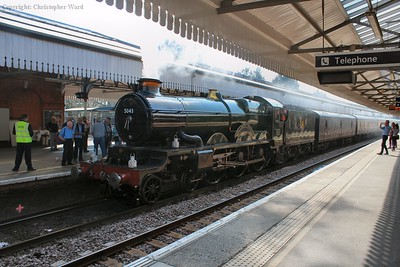 Earl of Mount Edgcumbe draws into the station