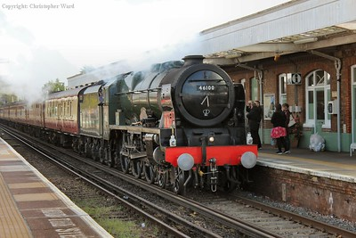 Royal Scot eases through Barnham preparing to take the turn-out to the Bognor branch