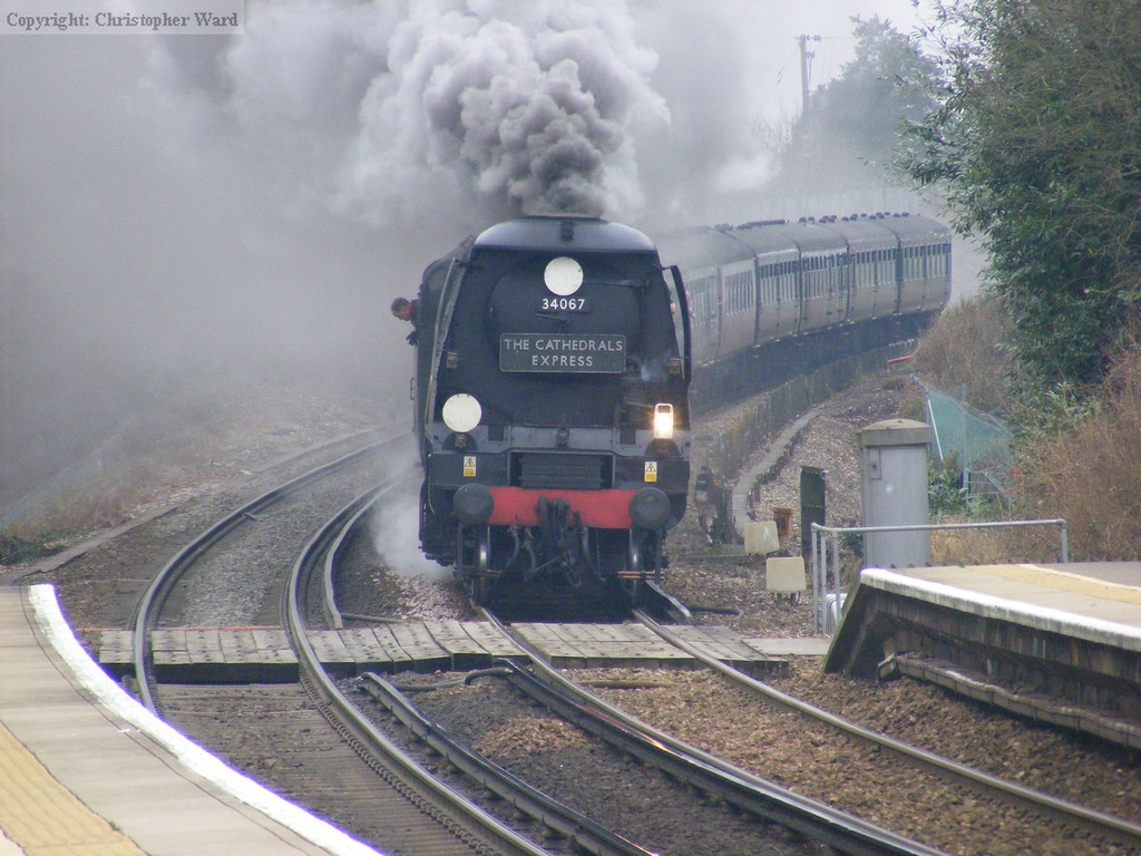 34067 slows for an adverse signal