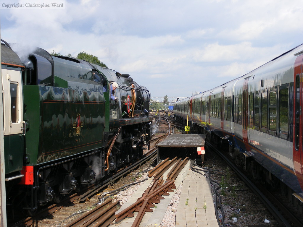 Clan Line paces the Waterloo train