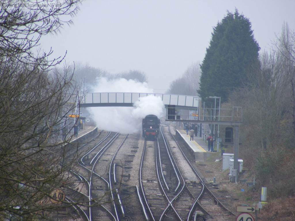 34067 races through Kent