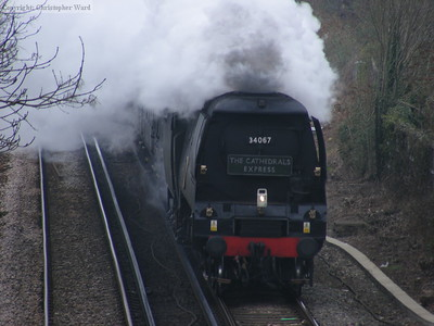 34067 at speed