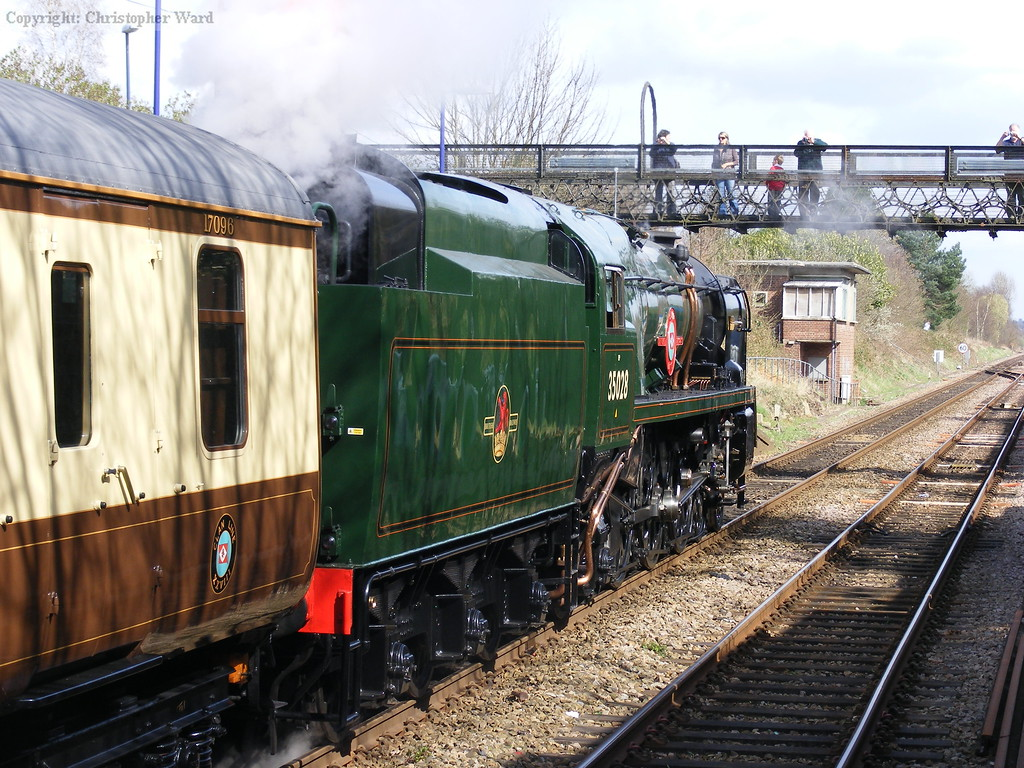 35028 takes water