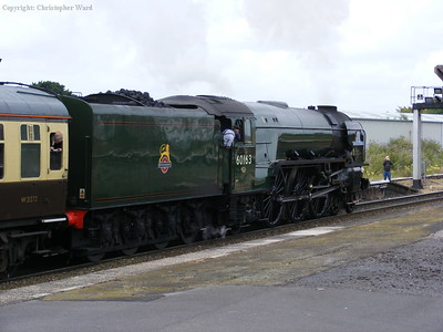 60163 gets into her stride away from the county town of Somerset