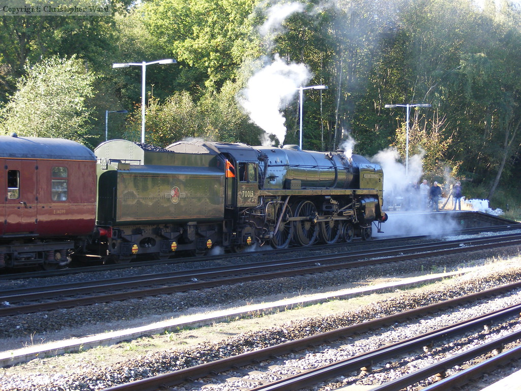 Oliver Cromwell sets off from Winchfield