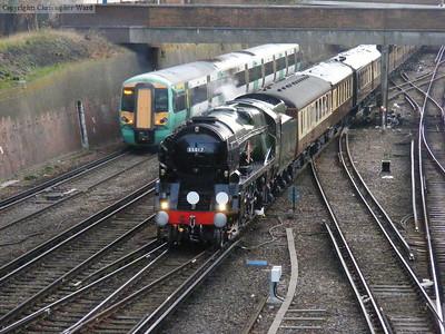 An Electrostar leaves East Croydon as the special draws to a halt