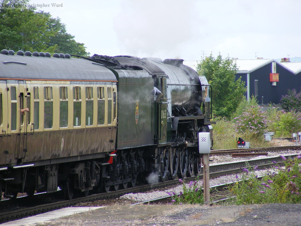 Tornado heads for Paignton with the train