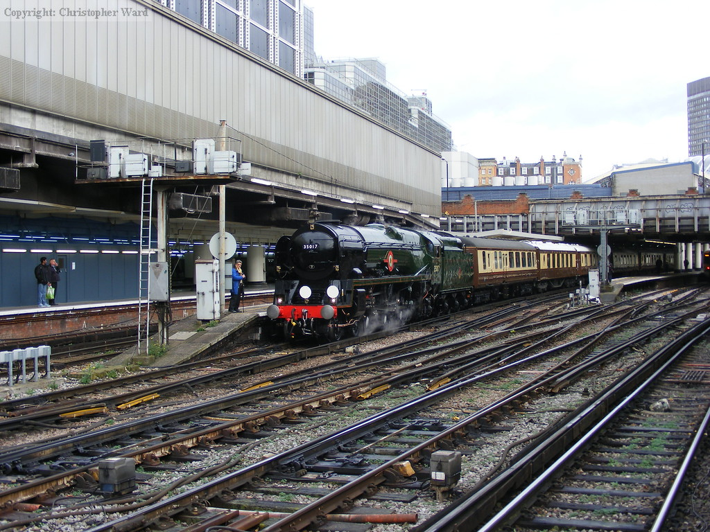The Bulleid waits time at the terminus