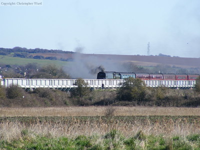 Tangmere crosses the Arun bridge