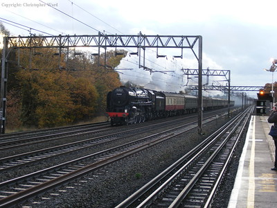 Britannia storms through South Kenton with the delayed special to Chester